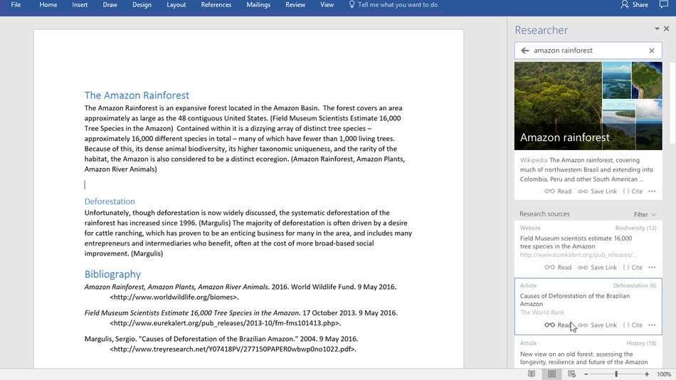 Microsoft Word update will help you write better research