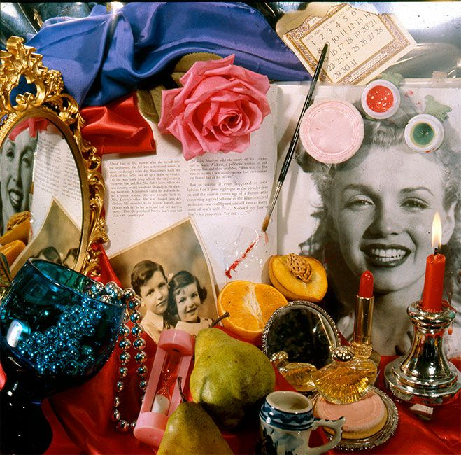 a biography of audrey flack Chanel, 1974 by audrey flack photorealism still life.