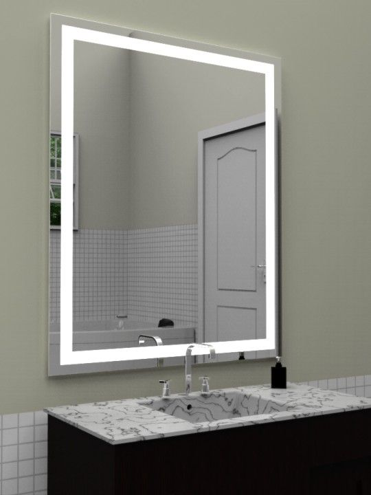 36 x 42 mirror wall mirrors valeria lighted mirror 36x42 side view on lighting in 2018