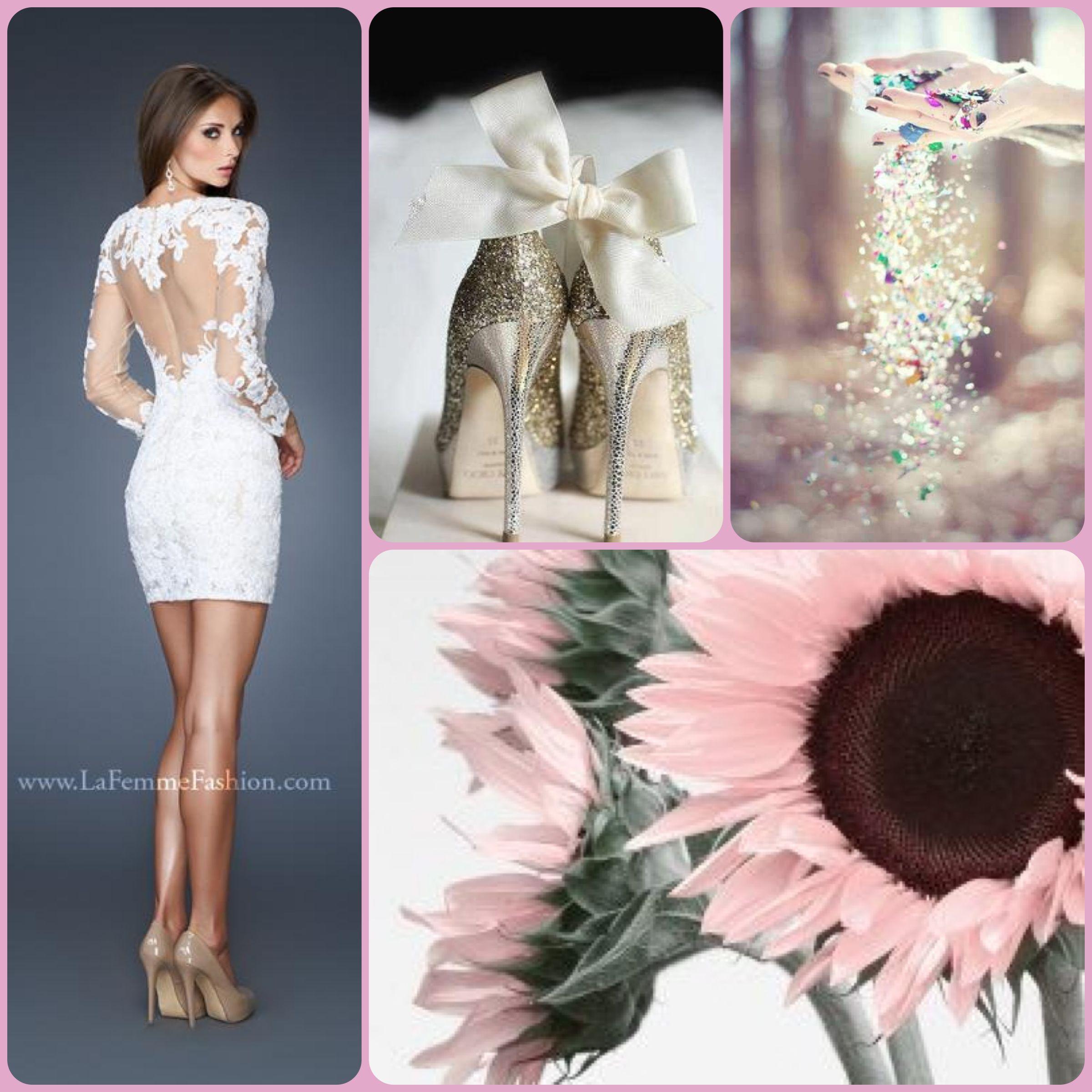 La femme style white dress short white dress white prom