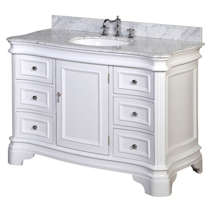"Kbc Katherine 48"" Single Bathroom Vanity Set & Reviews  Wayfair Classy Bathroom Cabinet Reviews Inspiration Design"