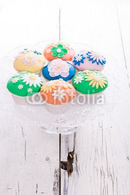 Bunte Cup Cakes