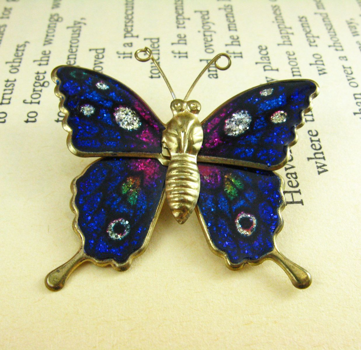 Blue Butterfly Brooch Pin, Vintage Bl… | Vintage Jewelry and Vintage ...