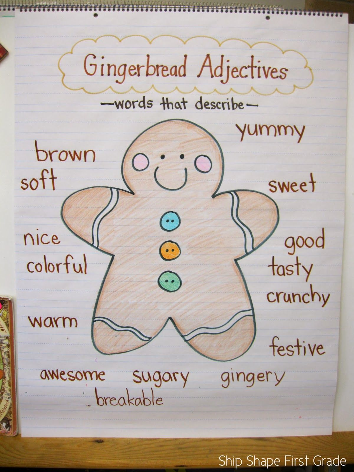 Ship Shape First Grade Santa Gingerbread And A Freebie