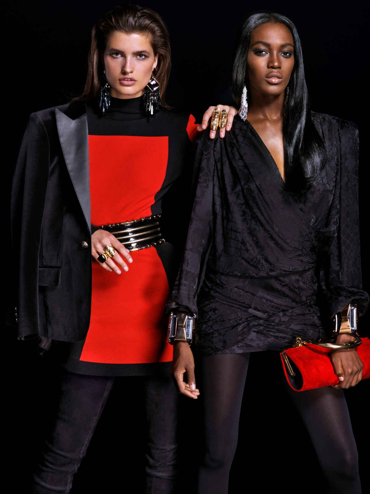 A look from the Balmain x H