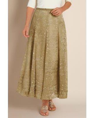 01044e4066 Soft Surroundings Women's Silk Sienna Skirt - Champignon - Soft  Surroundings…