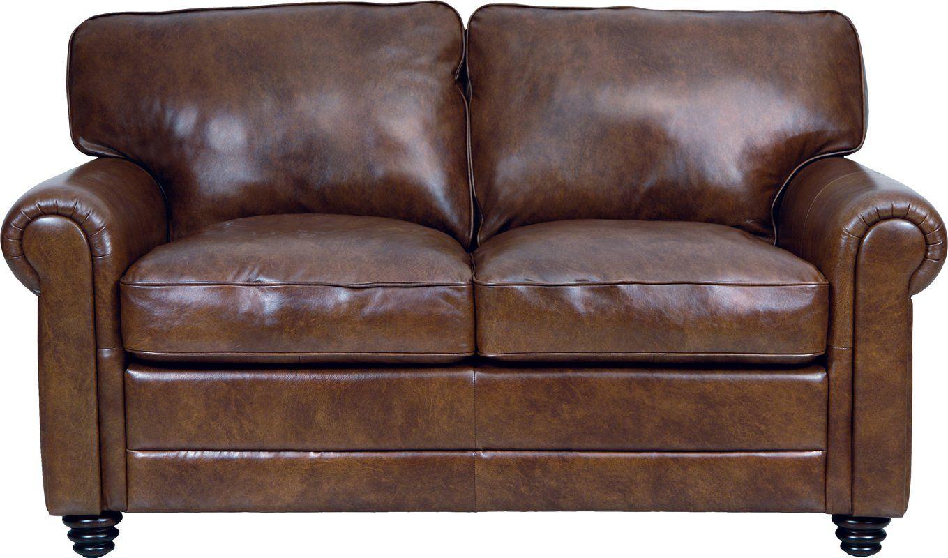 Astonishing Lambdin Leather Loveseat Loveseats Leather Loveseat Machost Co Dining Chair Design Ideas Machostcouk