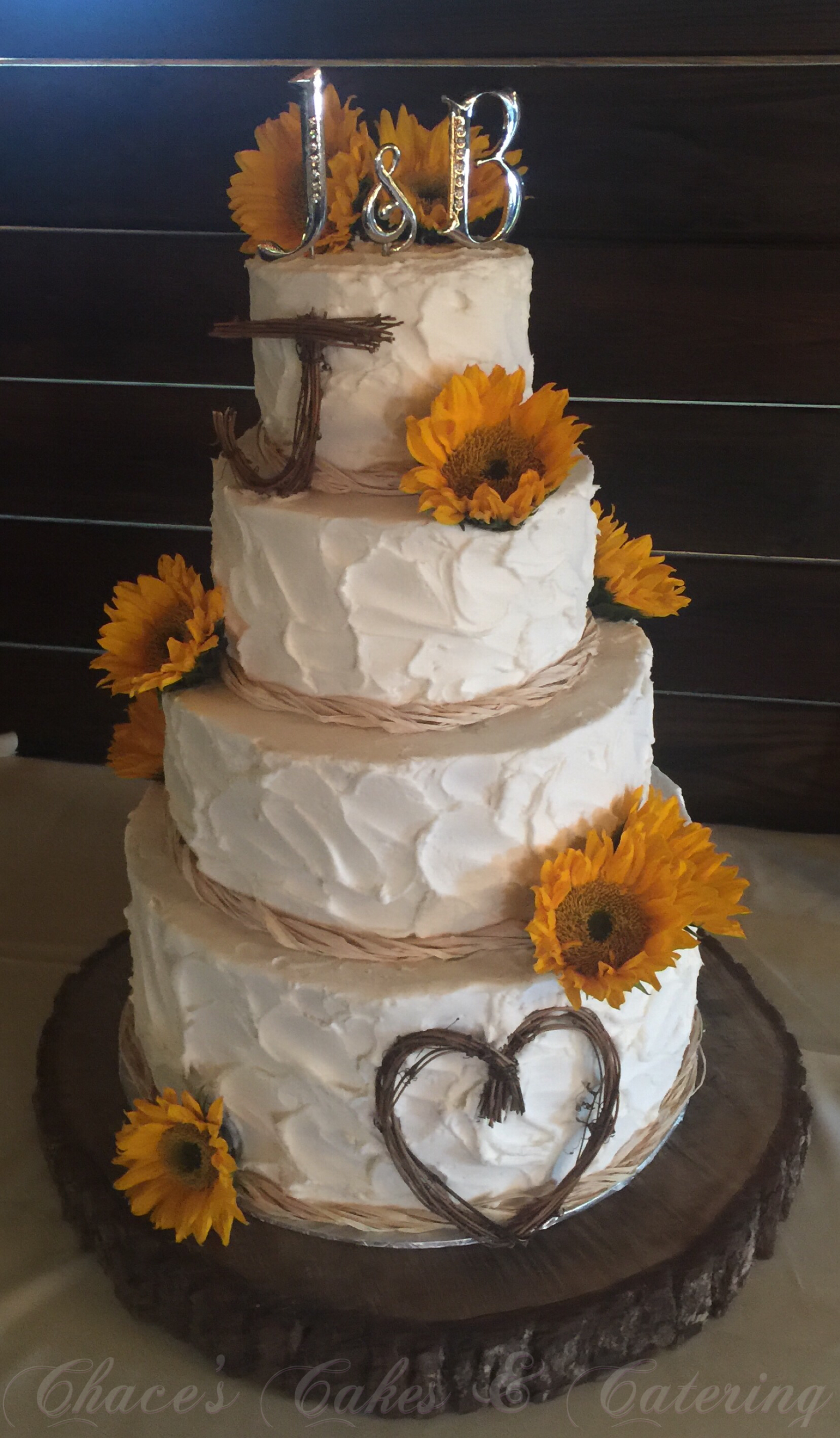 rustic wedding cakes with sunflowers rustic sunflower wedding cake https www 19574