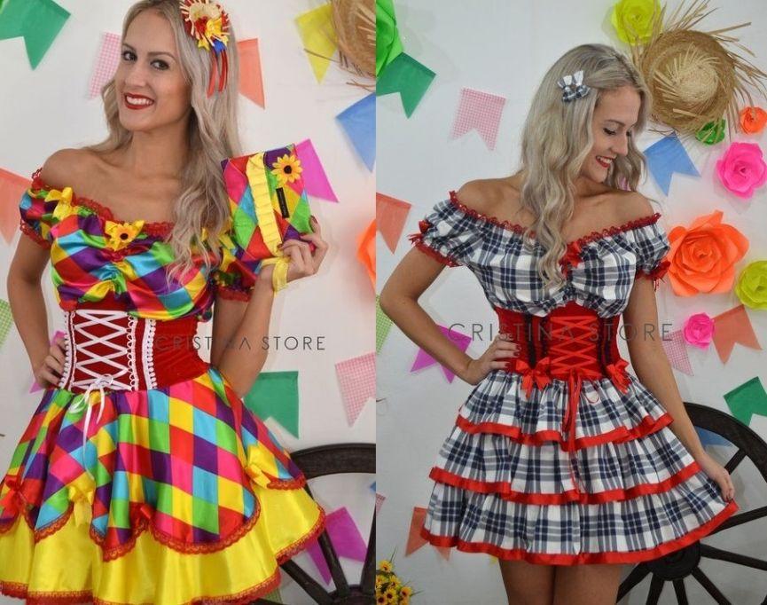 Vestido de festa junina 2018   unicornio   Pinterest   Vestido festa ... 29ae6c9cf0