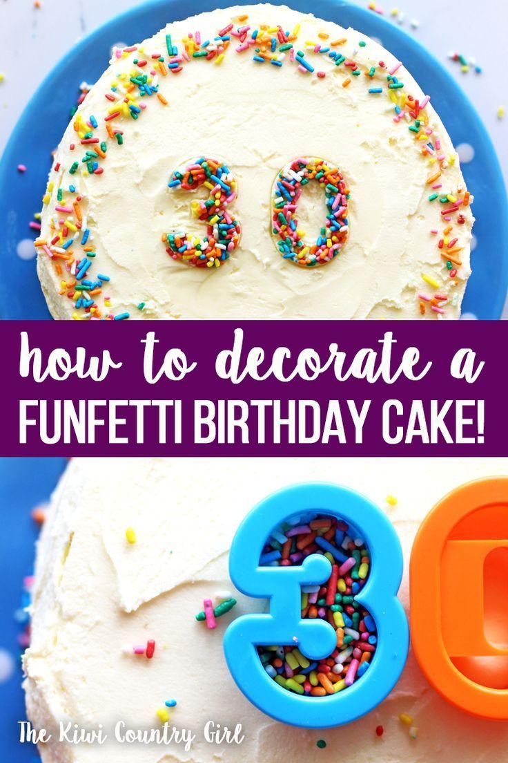 6 Inch Sprinkles Birthday Cake Recipe The Kiwi Country Girl