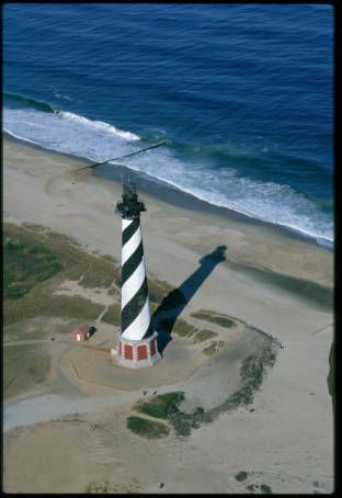 Aerial View Of The Cape Hatteras Lighthouse Taken In The Early 80 S