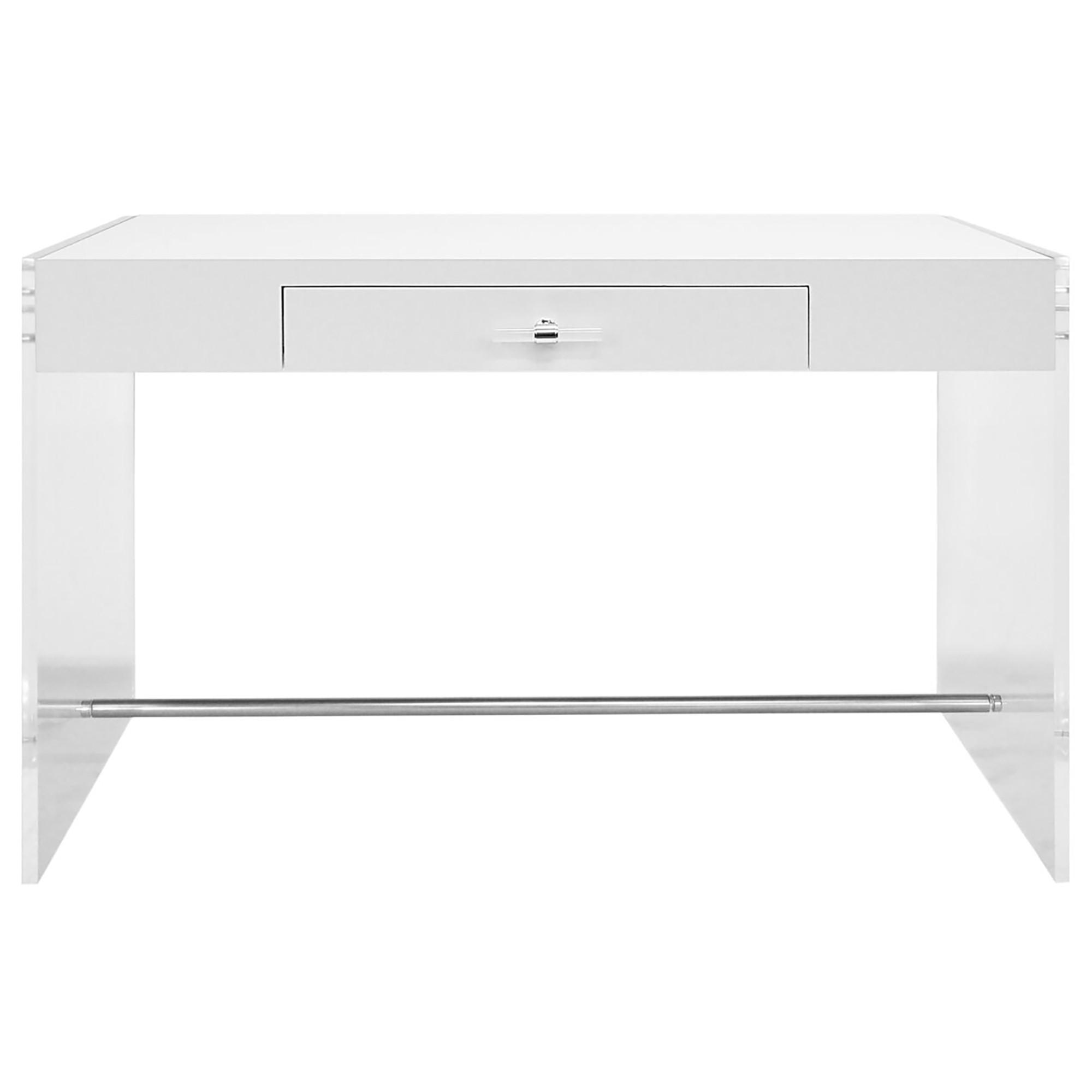 Worlds Away Lennon Desk White Lacquer White Desks Desk White Lacquer Desk