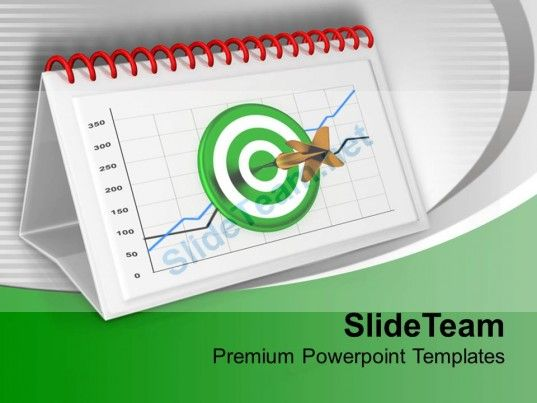 1013 Monthly Target Report Chart For Business PowerPoint Templates - business monthly report