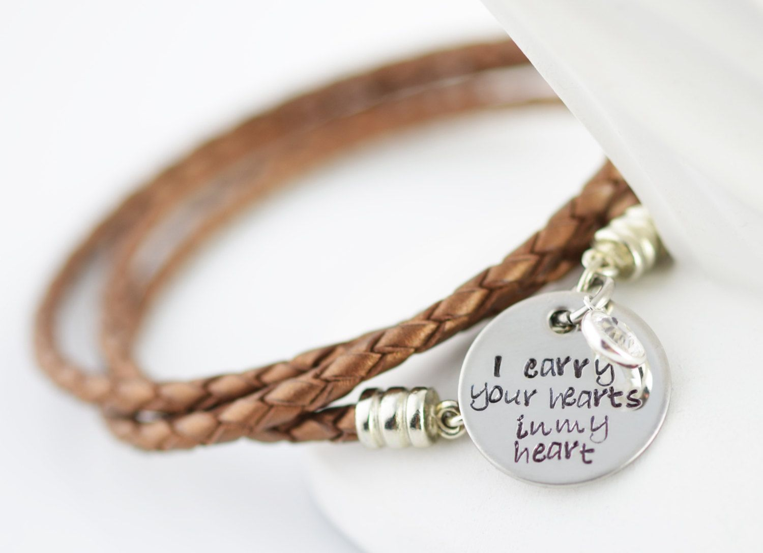Personalized hand stamped bracelet mommy by luckyhorn on etsy