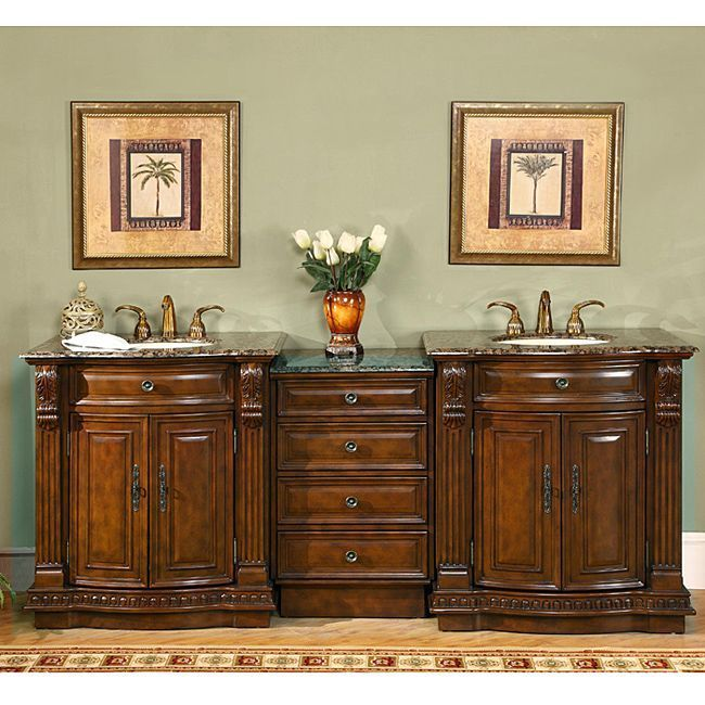Silkroad Exclusive Stone (Grey) Counter Top 845-inch Double Sink