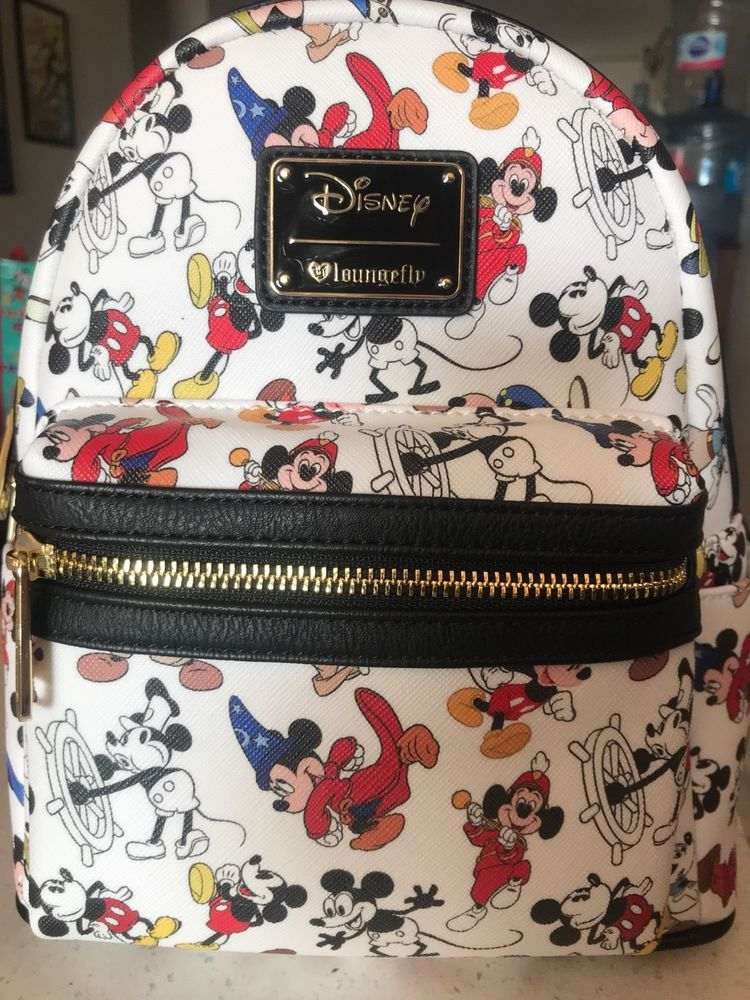 Disney Loungefly Mickey Mouse 90 Years Cast Member Mini Backpack LE600   Disneyana  Disney   86cd71f43b6e5