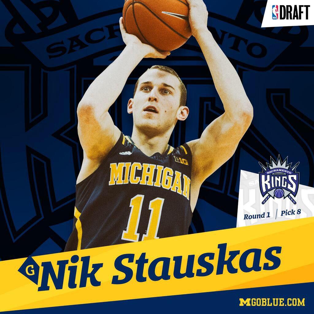 Nik Stauskas Round 1, Pick 8 (Sacramento Kings