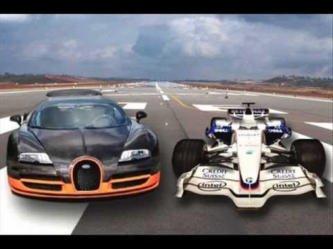 F1 Car Vs Buggati Veyron Supersport Drag Race My Dream Car The