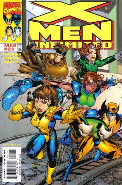 X Men Unlimited 22 Marvel 1 999 Usa Hombres X Marvel Comics