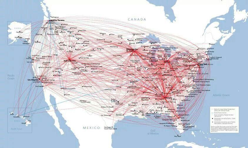 delta airlines route map
