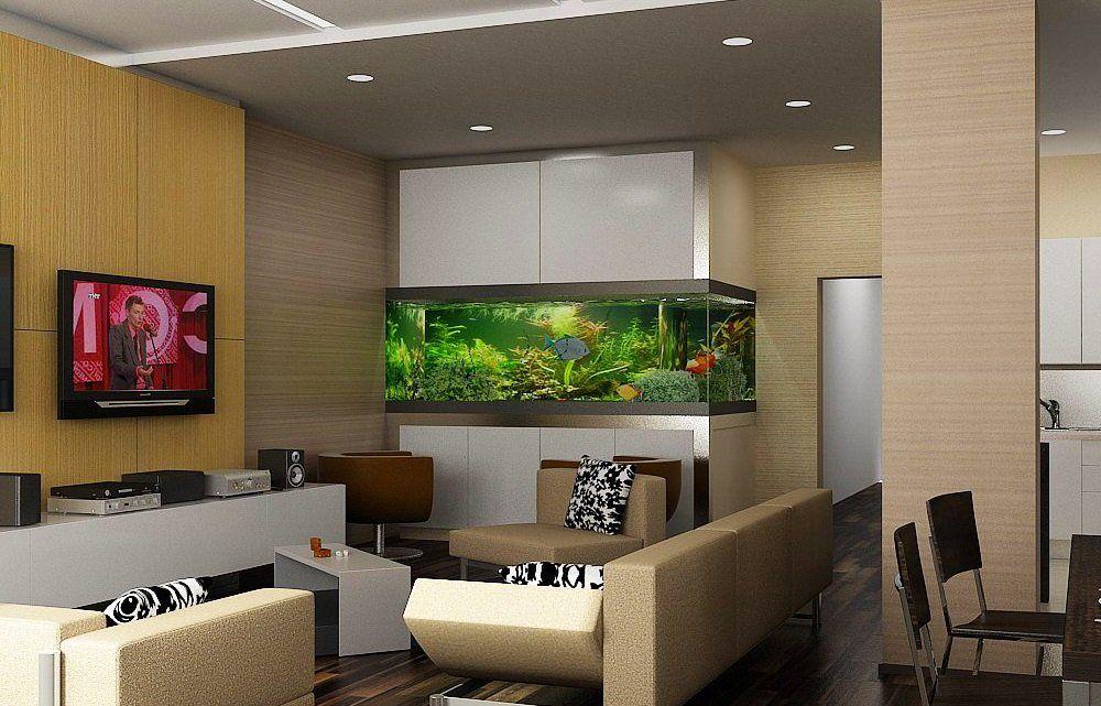 это точно аквариум в гостиной фото дизайн еще больше