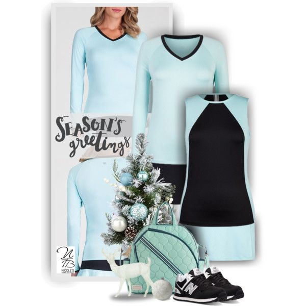 Perfect outfits for 2017 from Nicole's Tennis Boutique! Pastel and Black make a stunning outfit combination.
