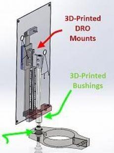 Milling Machine DRO Mounts