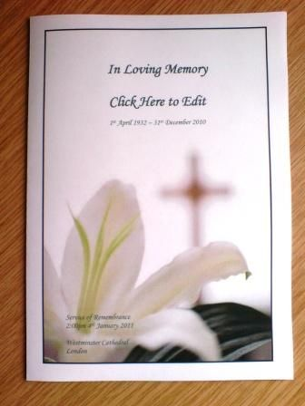 Downloadable Funeral Bulletin Covers | Download The Free Template As A  U0027Wordu0027 ...  Funeral Template Free