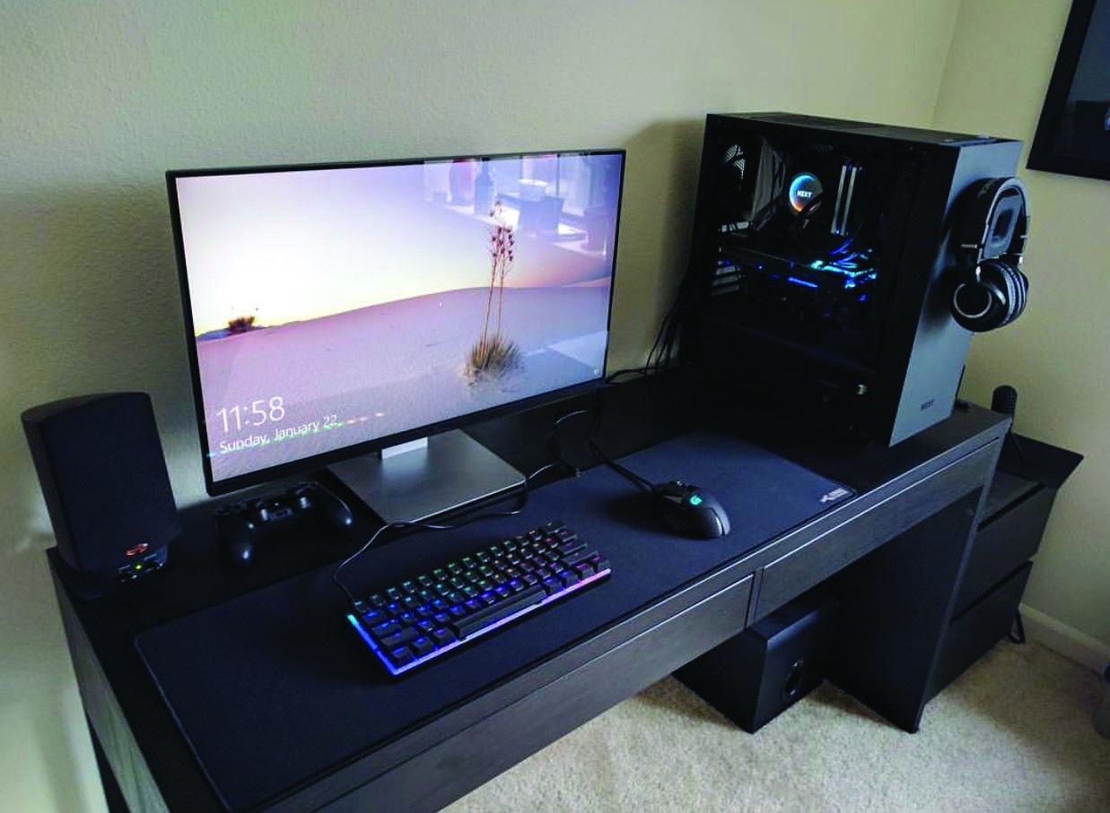 Gaming Computer Desk Ideias Para Sala De Jogos Sala De Jogos