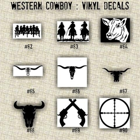 SMALL COWBOY Vinyl Decals Car Decal Laptop Sticker - Cowboy custom vinyl decals for trucks