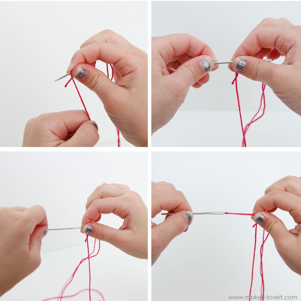 Teaching Kids to Sew, Part 2 Using Fabric, Tying Knots