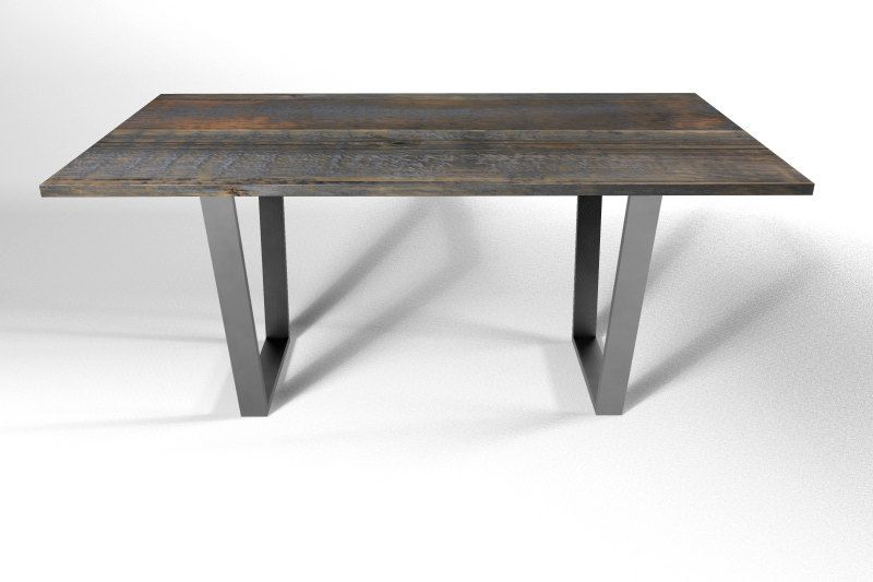 trapeze coffee table leg base metal legs by diyfurniturestore 11900 - Metal Kitchen Table