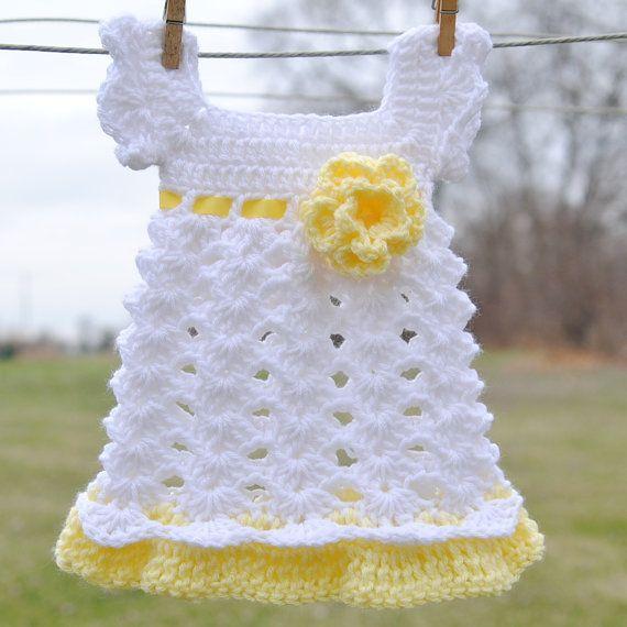 Free Crochet Baby Dress Patterns   Baby Girl Newborn ...
