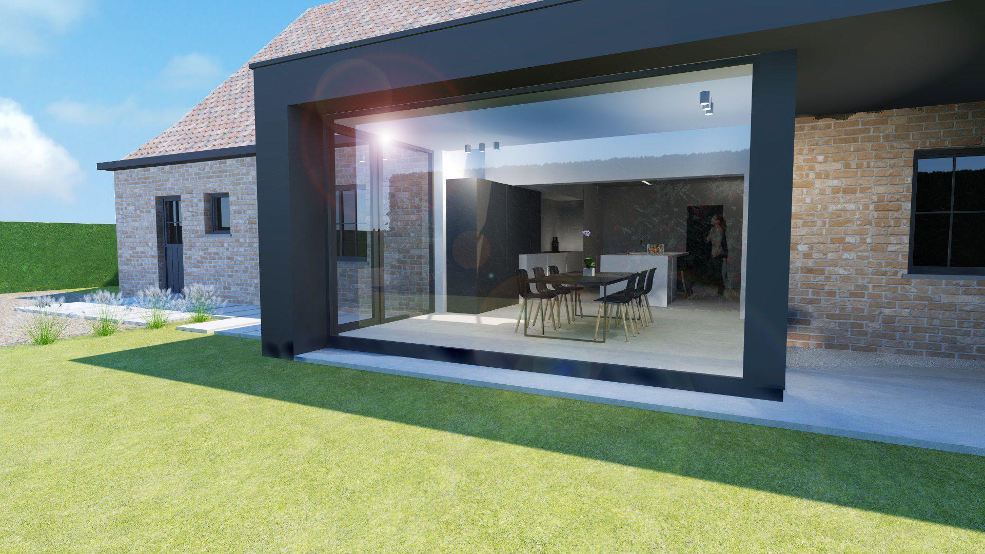 Architectuur renovatieproject moderne uitbreiding van for Interieur moderne woning