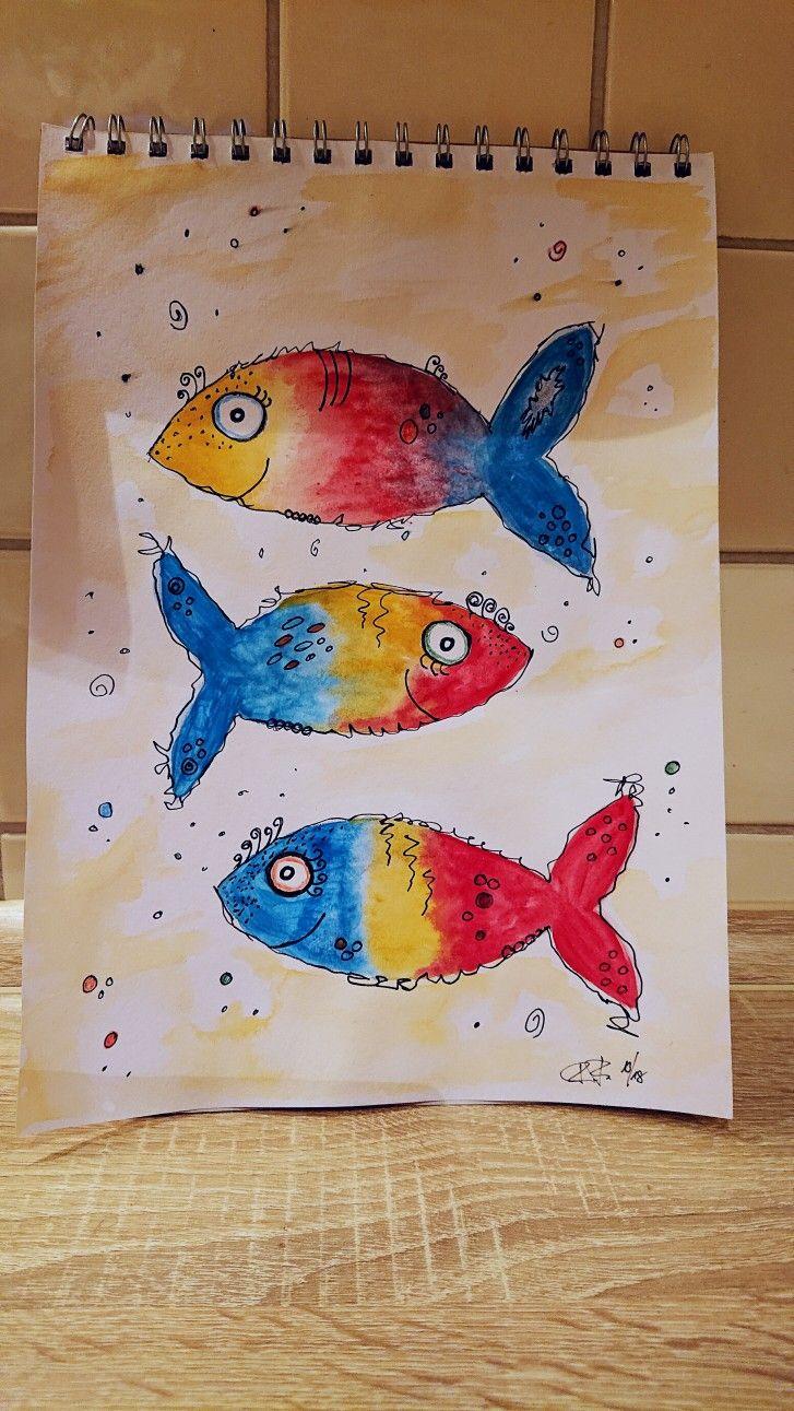 aquarell fisch  aquarell fisch basteln aquarell