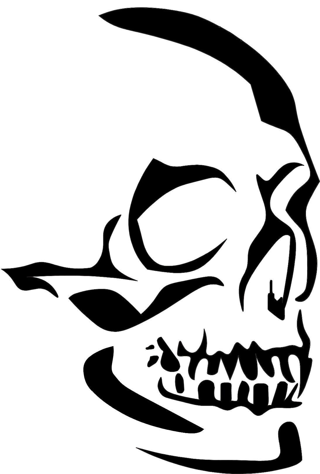Eigenmarke Stencil Schablone Skullkopf | darquniss | Pinterest ...