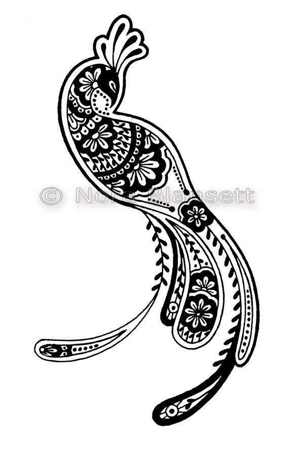 Resultado de imagem para peacock feather drawing | temas tattoo ...