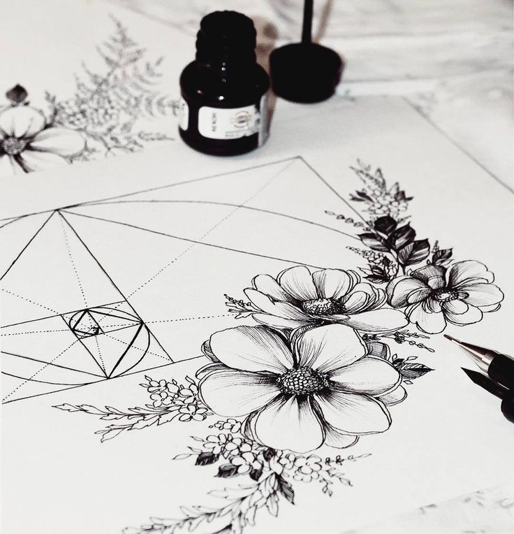 Image Result For Flowers Golden Ratio Tattoo