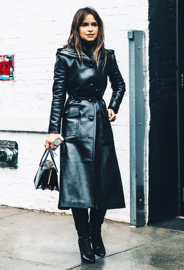 50 Great Outfit Ideas to Wow Everyone Leather trench