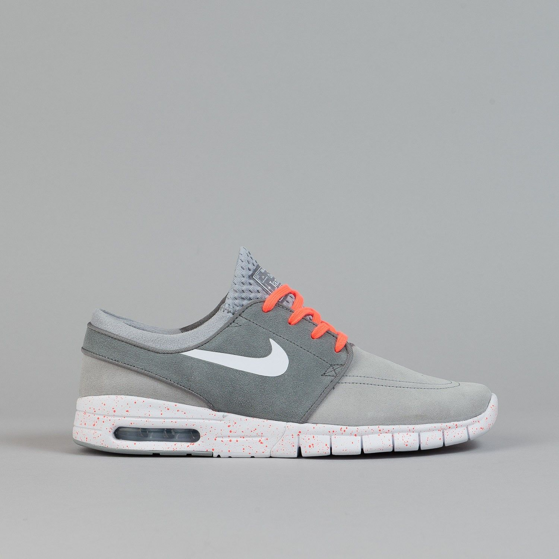 058f623a369db Nike SB Stefan Janoski Max Suede Shoes - Wolf Grey / White / Cool Grey /  Hot Lava | Flatspot