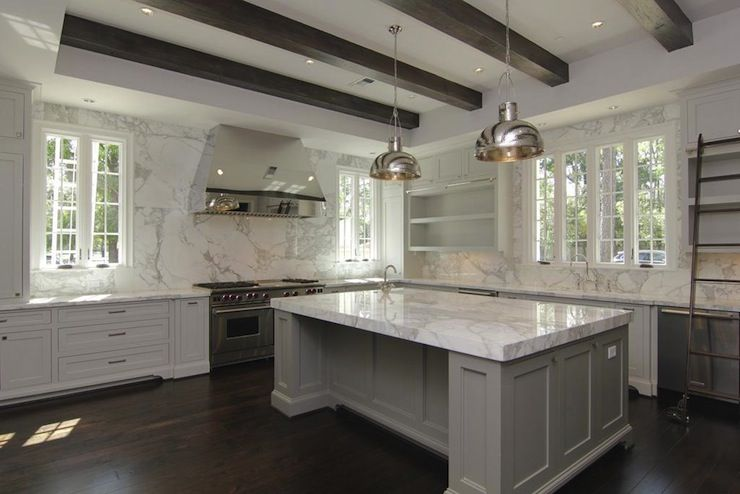 Gray Kitchen Cabinets Contemporary Kitchen Grey Kitchen Island Contemporary Kitchen Home Kitchens
