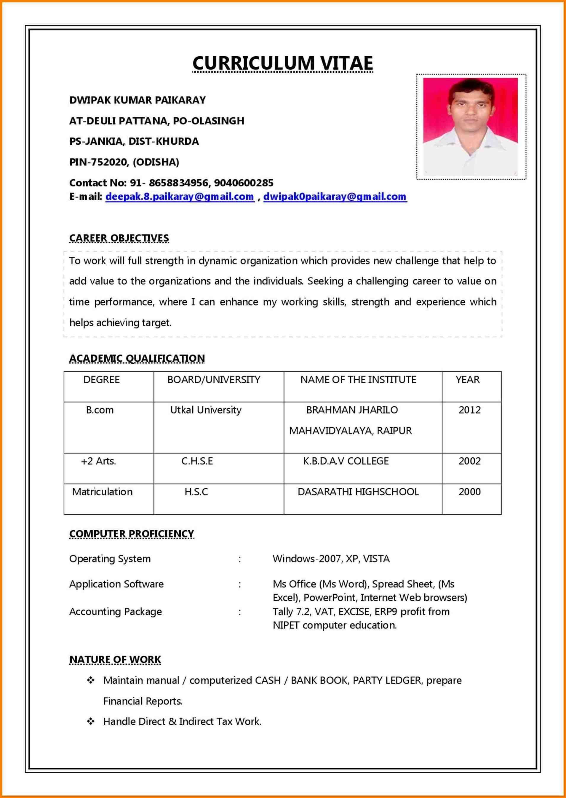 Resume Template Design Professional Job Resume Format Job Resume Job Resume Examples