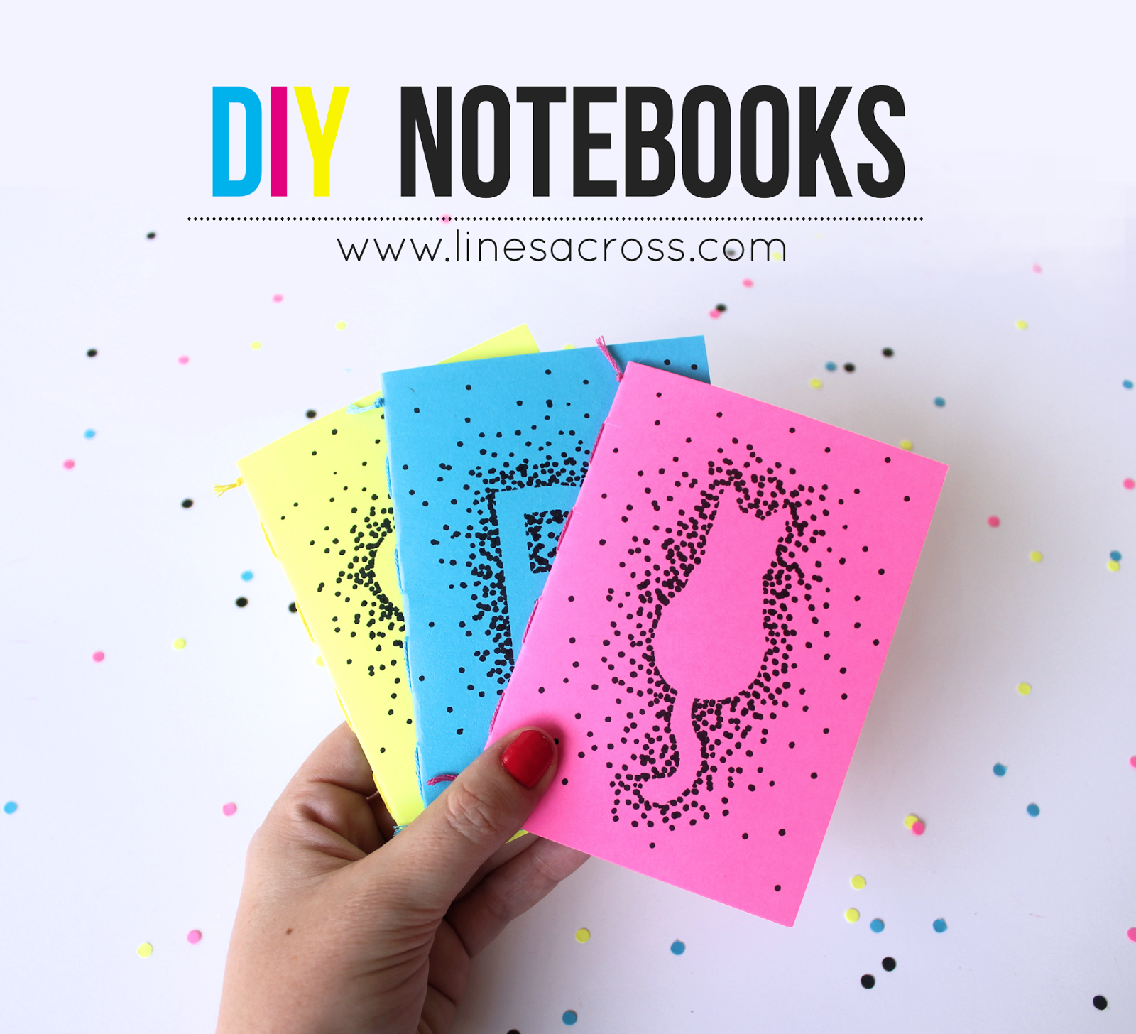 Make Your Own Mini Notebooks Quot Lines Across Quot Crafts