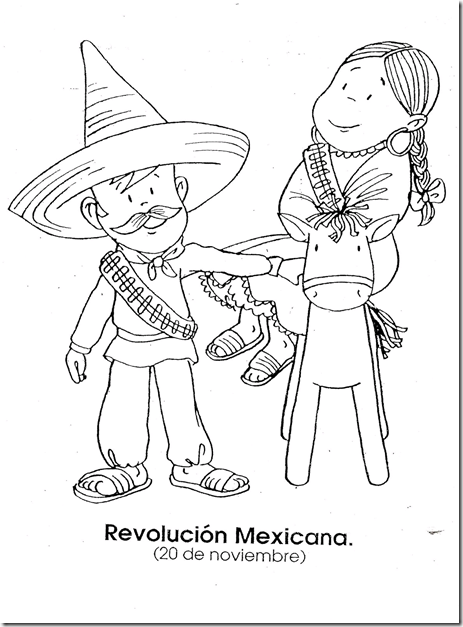 Mexican revolution november 20 coloring page for Mexican independence day coloring pages