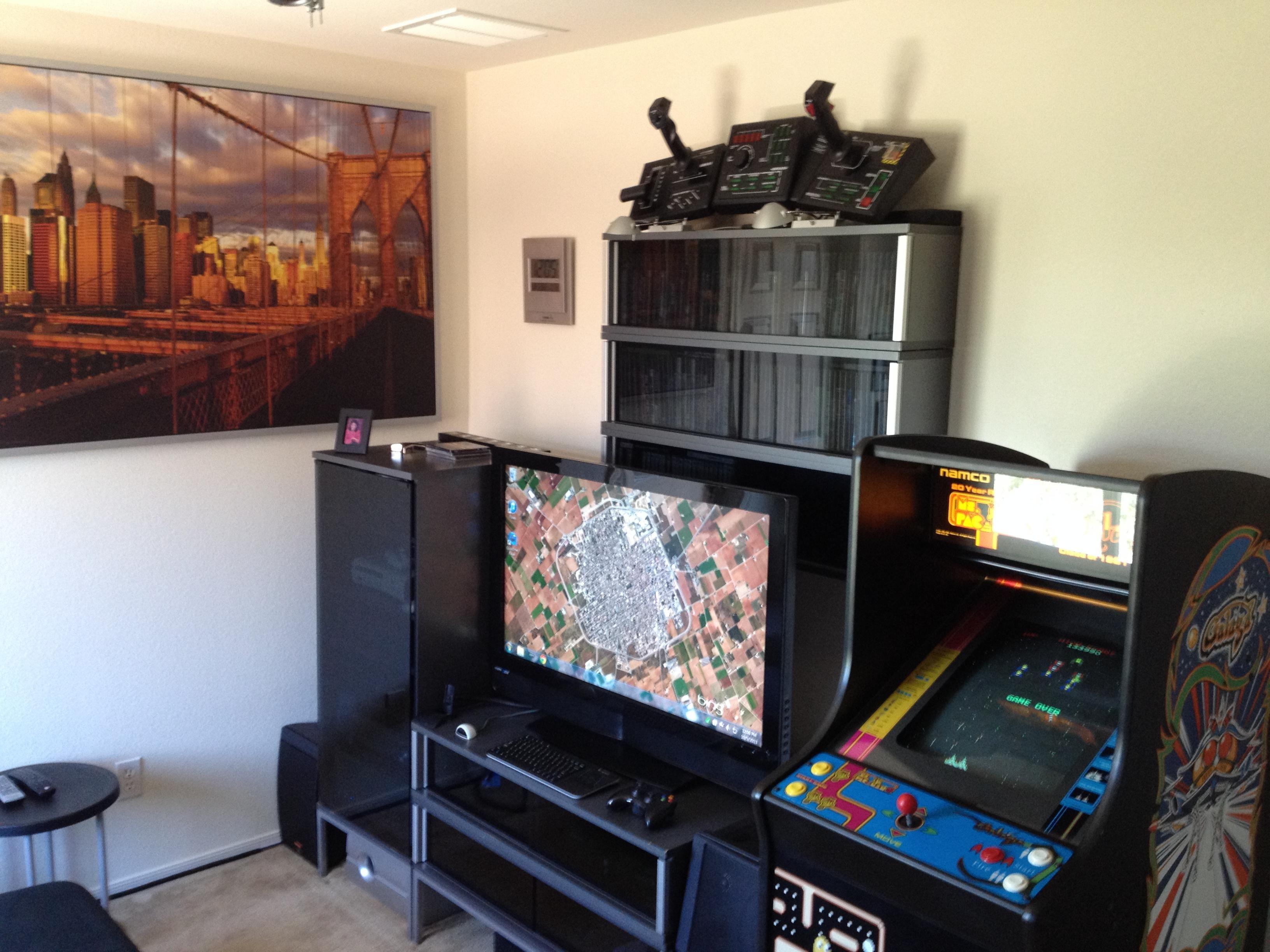Modern Gaming Entertainment Center by reddit user