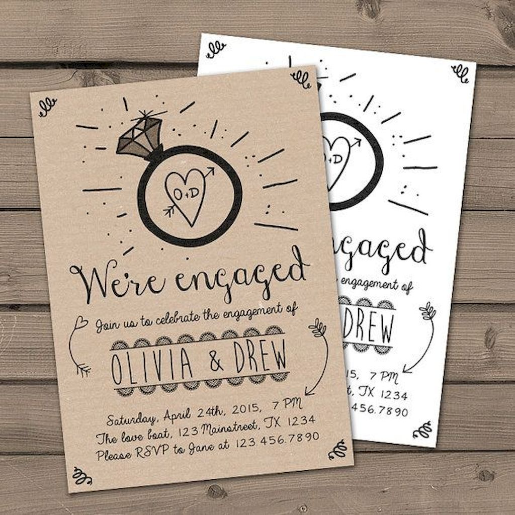 48 Inexpensive Engagement Party Invitations Ideas #engagementparty