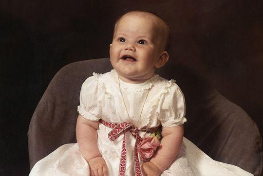 Princess Sofia as a baby.