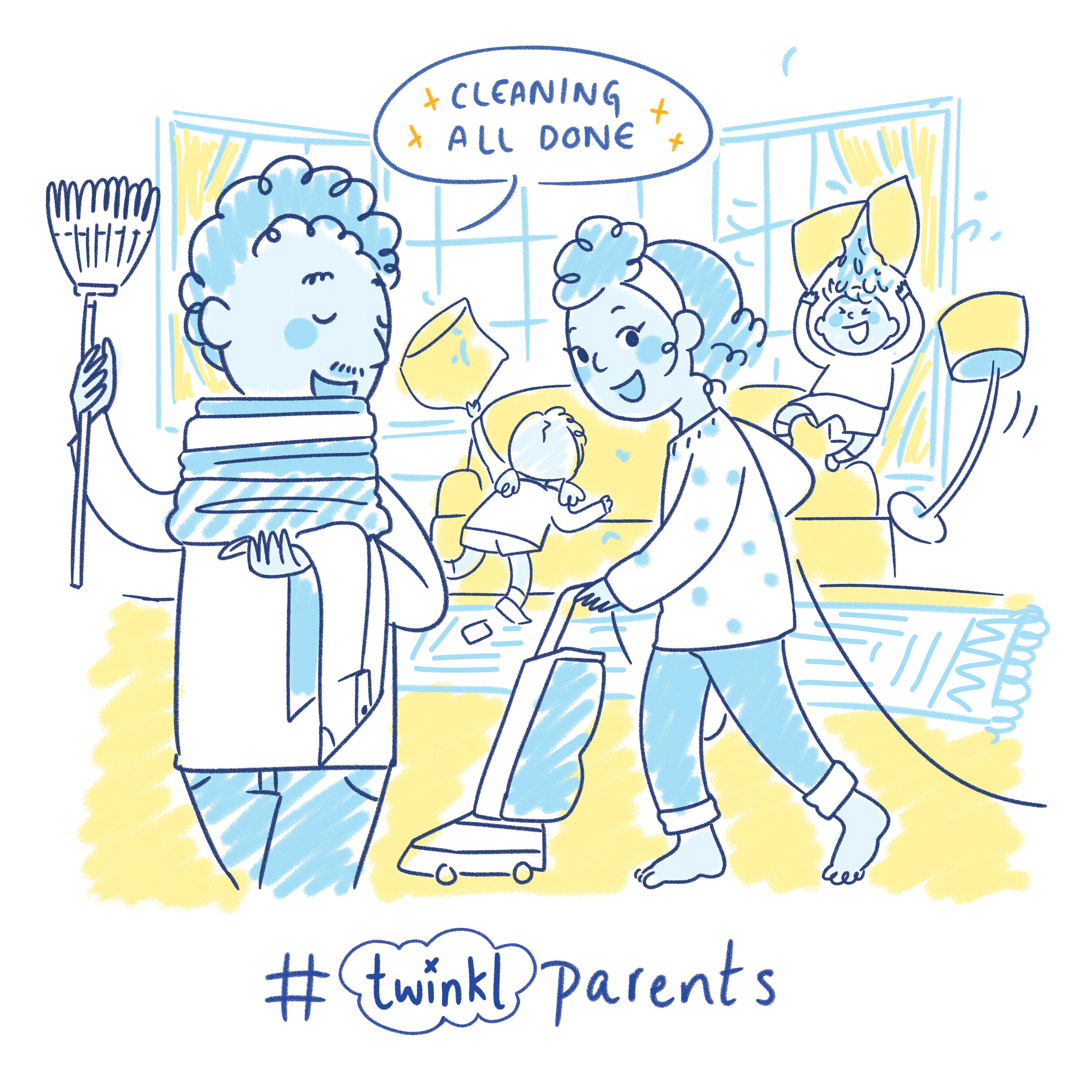 Twinkl Parents Doodle Illustration