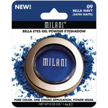 Milani Bella Eyes Gel Powder Eyeshadow, Satin Matte, 0.05 oz, Blue