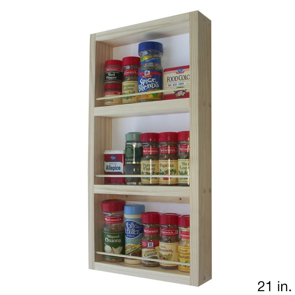 Gewürzregal Küchentür Wg Wood Products Elgin On The Wall Spice Rack 7 Inches Wide X 2 5